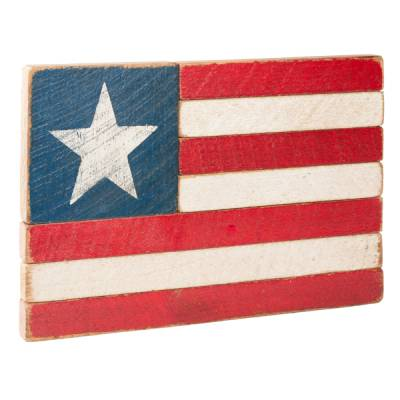 Rustic American Flag with Star Sign