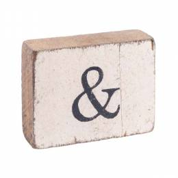 Rustic Marlin Antique White Ampersand Block (Horizontal)