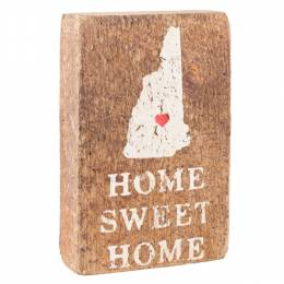 Rustic Marlin Antique White New Hampshire Silhouette Block