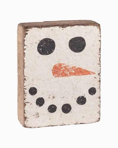 Snowman Face Block