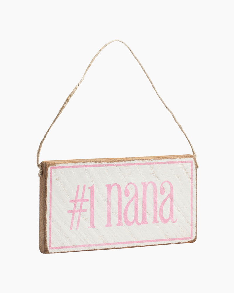 Rustic Marlin Number One Nana Hanging Wood Sign