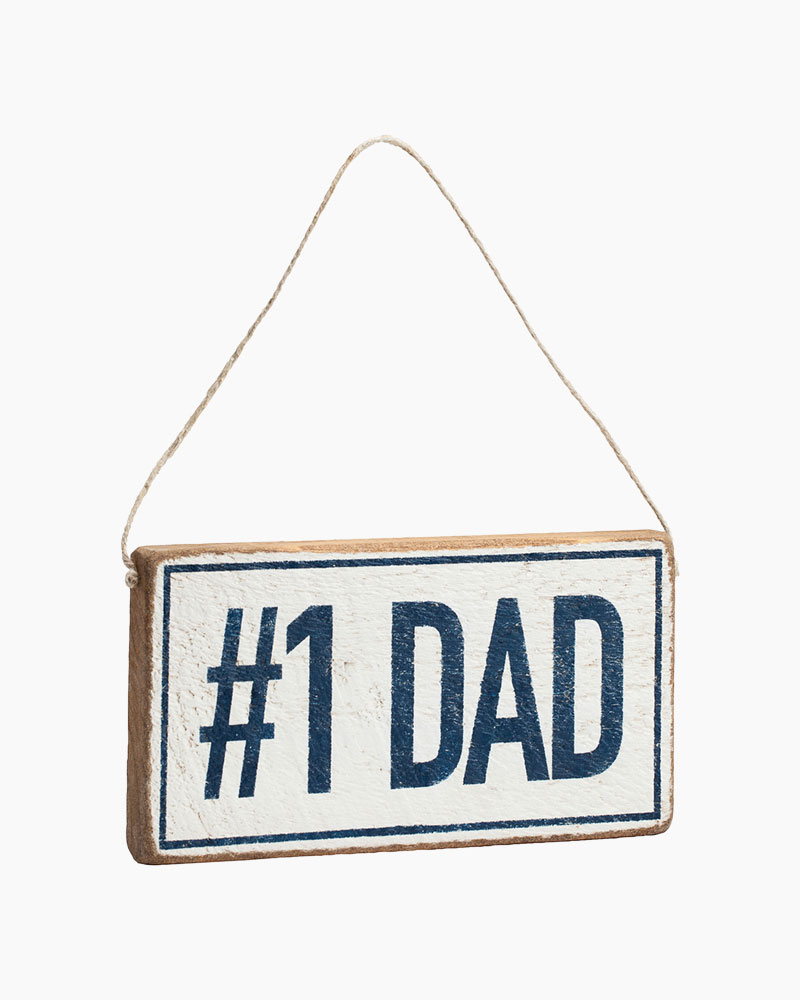 Rustic Marlin Number One Dad Hanging Wood Sign