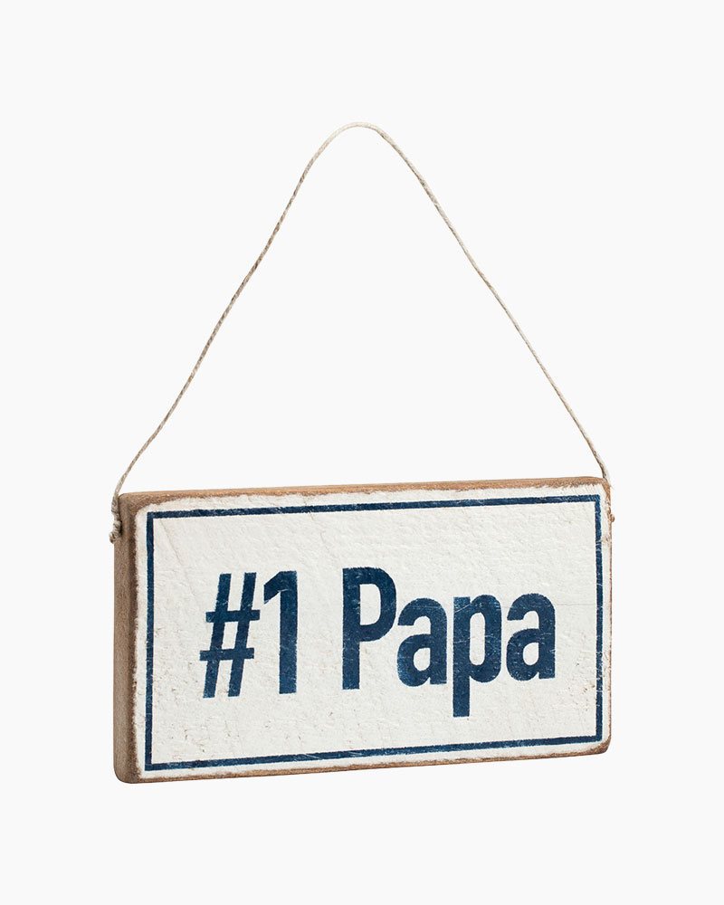 Rustic Marlin Number One Papa Hanging Wood Sign
