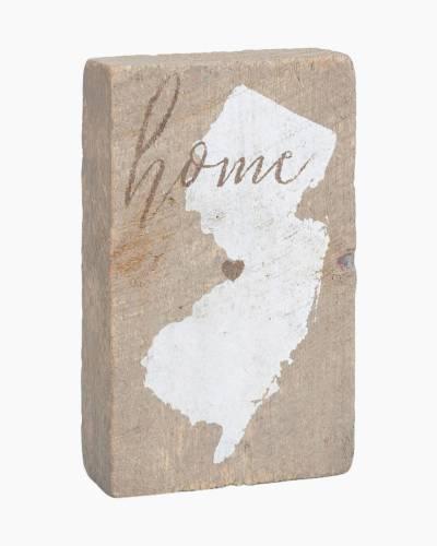 New Jersey Wooden Block