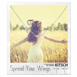 Kitsch Dragonfly Spread Your Wings Necklace and Earrings Set in Silver