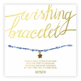 Kitsch Together We Can Star Wishing Bracelet in Neon Blue