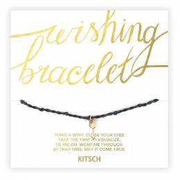 Kitsch You Are Unlimited Arrow Wishing Bracelet in Black