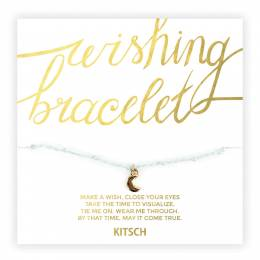 Kitsch Life is Tough My Darling Moon Wishing Bracelet in Pastel Green