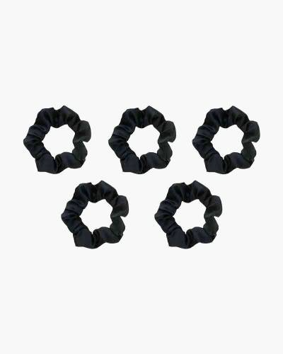 Satin Sleep Scrunchie Set in Black (5-pack)