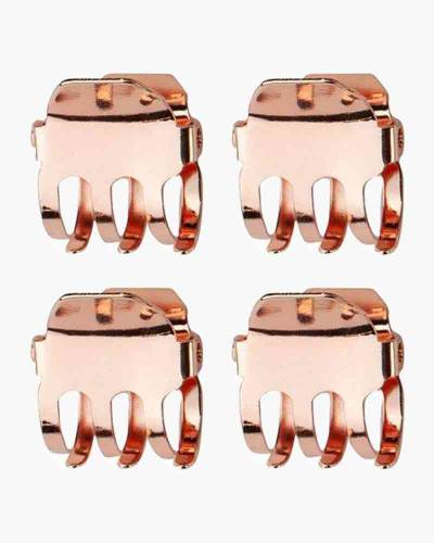 Mini Square Claw Clips in Rose Gold (4-pack)