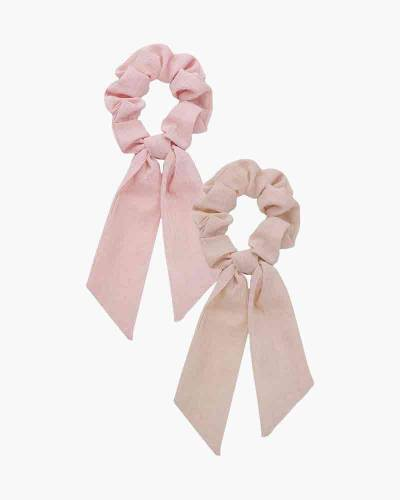 Scarf Scrunchies in Blush and Mauve (2-pack)