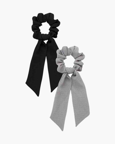 Scarf Scrunchies in Black and Gray (2-pack)