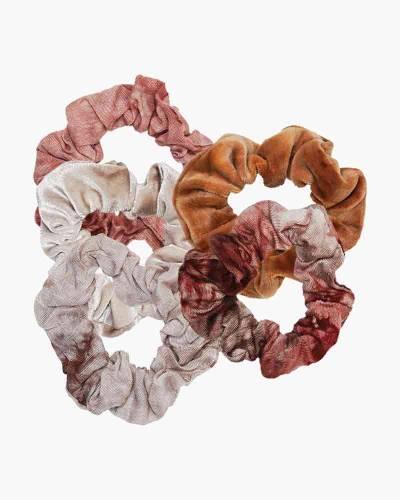 Tie Dye Scrunchie Set in Rust (5-Pack)