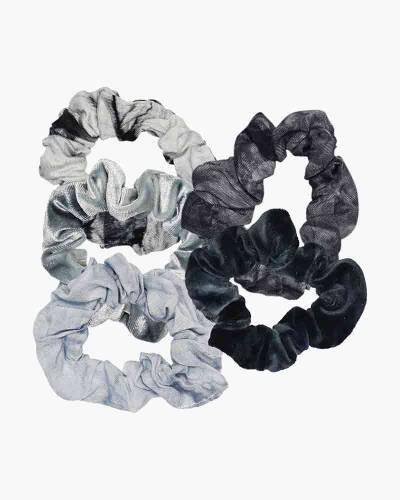 Tie Dye Scrunchie Set in Slate (5-Pack)