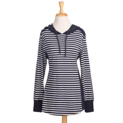 Navy Stripe Hoodie