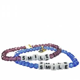 Little Words Project Smile Preciosa Crystal Bracelet