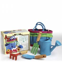 House of Marbles Children's Garden Tool Set and Canvas Bag