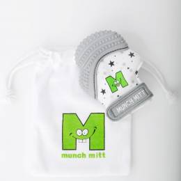 Munch Mitt Munch Mitt Teething Mitten in Grey