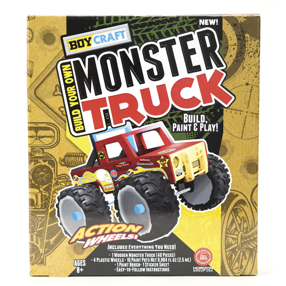 Boy Craft Build Your Own Monster Truck Activity Kit