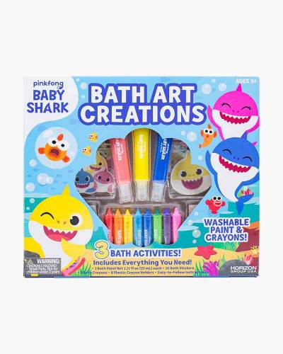 Baby Shark Bath Art Creations