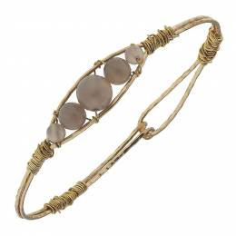 Canvas Artisan Wired Grey Agate Gemstone Bangle