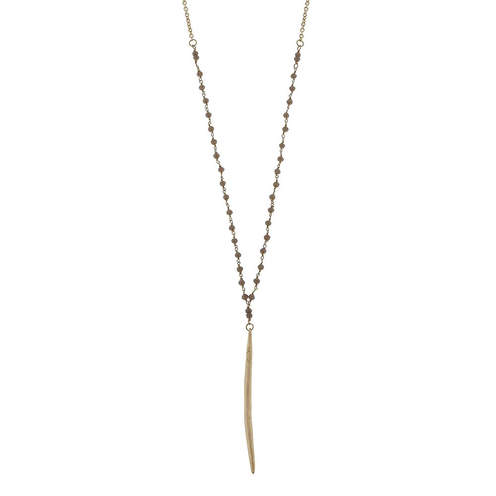 Canvas Delicate Spear Necklace