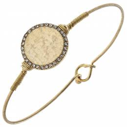 Canvas Crystal Trim Disc Bangle