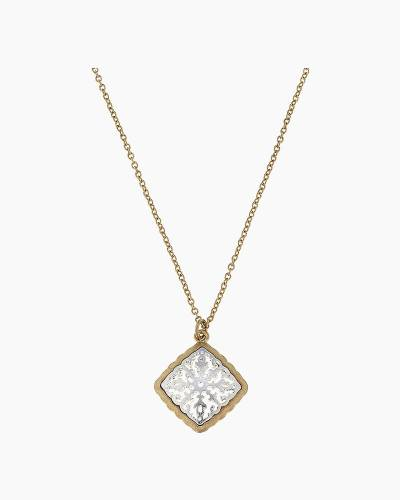 Two-Tone Filigree Diamond Pendant Necklace