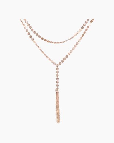 Rose Gold Tassel Y-Necklace
