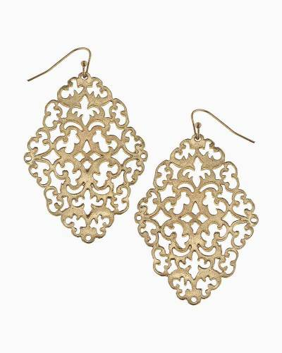 Filigree Earrings in Gold