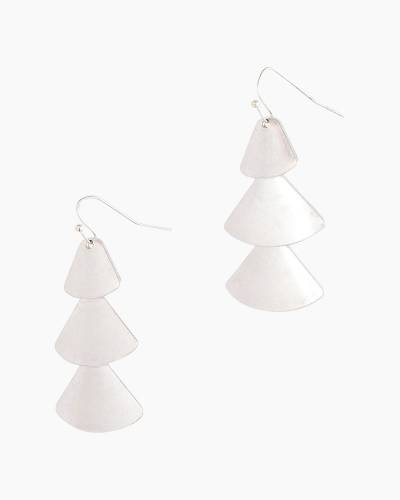 Tiered Petals Earrings in Silver