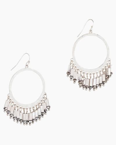 Fringe Hoop Earrings in Silver