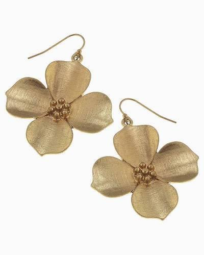 Gold Flower Earrings