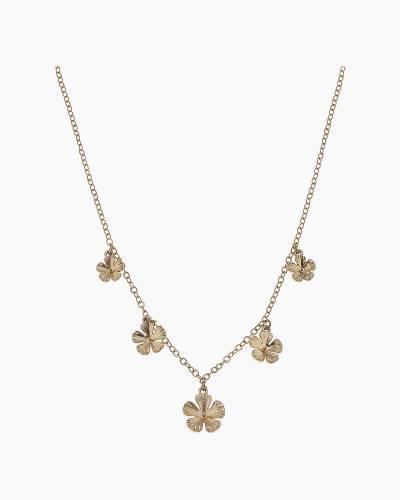 Delicate Geranium Chain Necklace