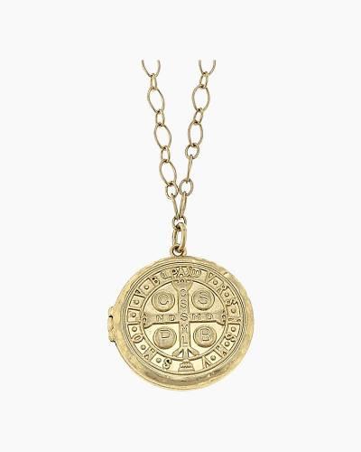 San Benito Coin Locket Necklace
