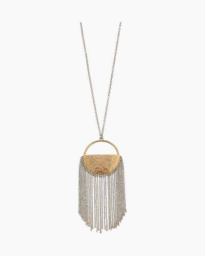 Half Moon Chain Fringe Necklace in Gold
