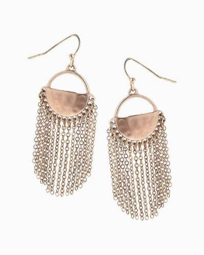 Half Moon Chain Fringe Earrings