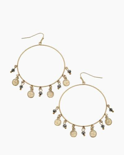 Celeste Coin Hoop Earrings