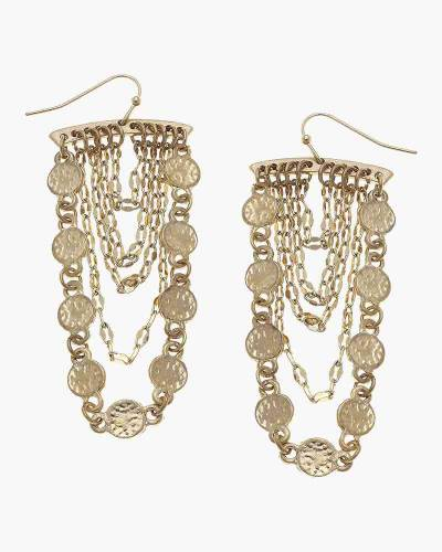 Celeste Coin Chandelier Earrings