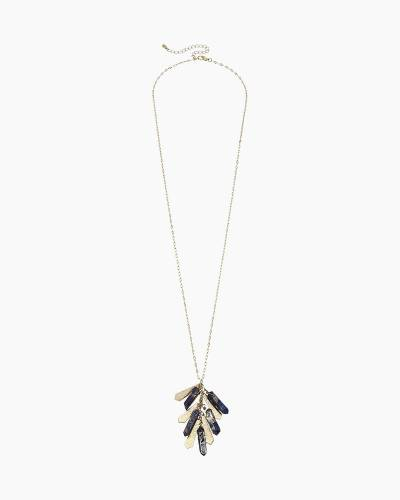 Kaiya Quartz Cluster Necklace in Midnight Blue
