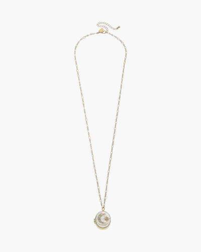 Hailey Gift Box Mother of Pearl Moon Locket Necklace