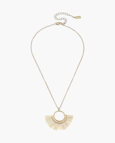 Laurel Necklace in Ivory Raffia