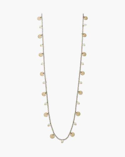 Bailey Long Drip Necklace in Ivory Pearl