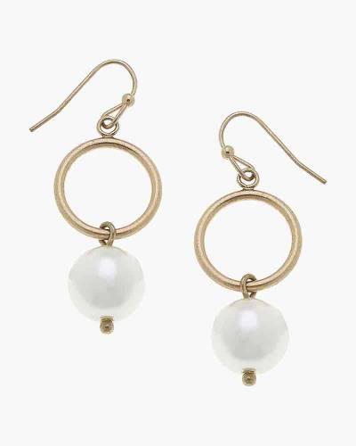 Bailey Drop Earrings in Ivory Pearl