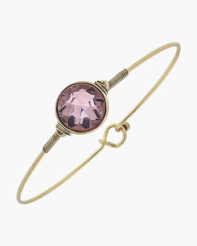 Brinkley Round Latch Bangle in Rose