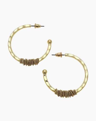 Chain-Wrapped Hoop Earrings