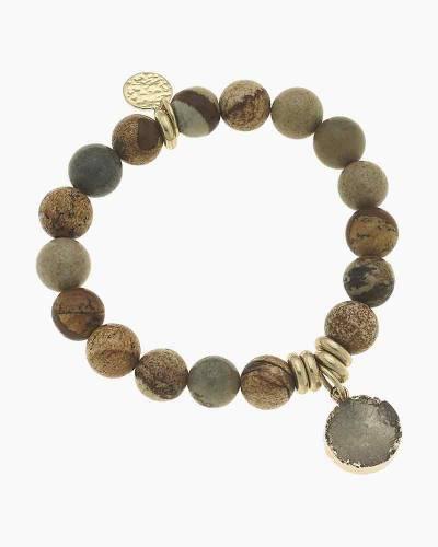 Audrey Gemstone Druzy Bracelet