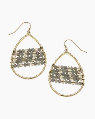 Gold Florence Teardrop Earrings