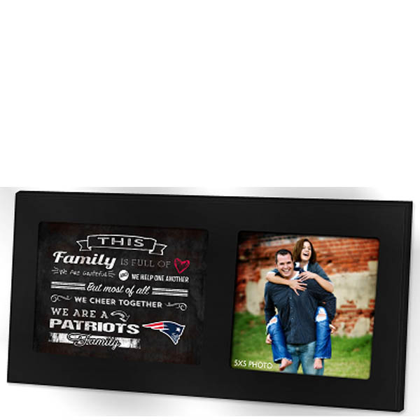Kindred Hearts New England Patriots Family Cheer Picture Frame