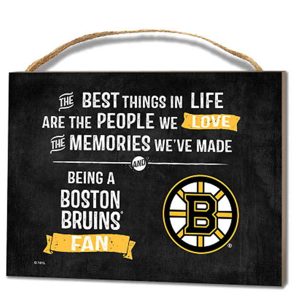 Kindred Hearts Boston Bruins Best Things Wooden Plaque